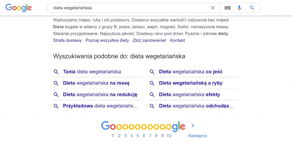 Podpowiedzi haseł w wyszukiwarce