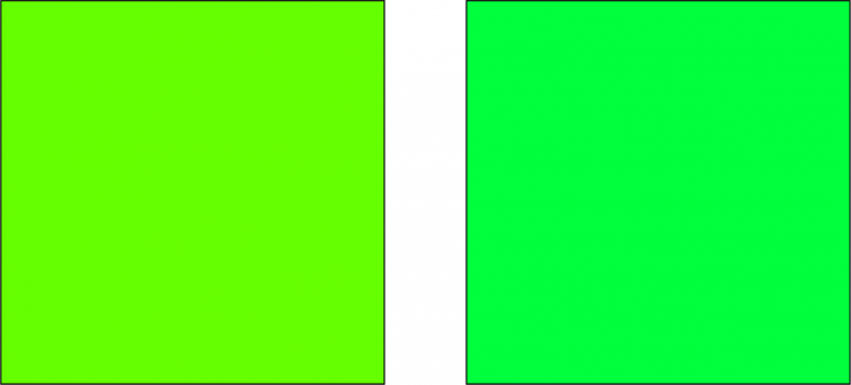 2 odcienie zielonego